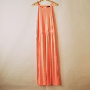 GAP dress long sleeveless coral size large.